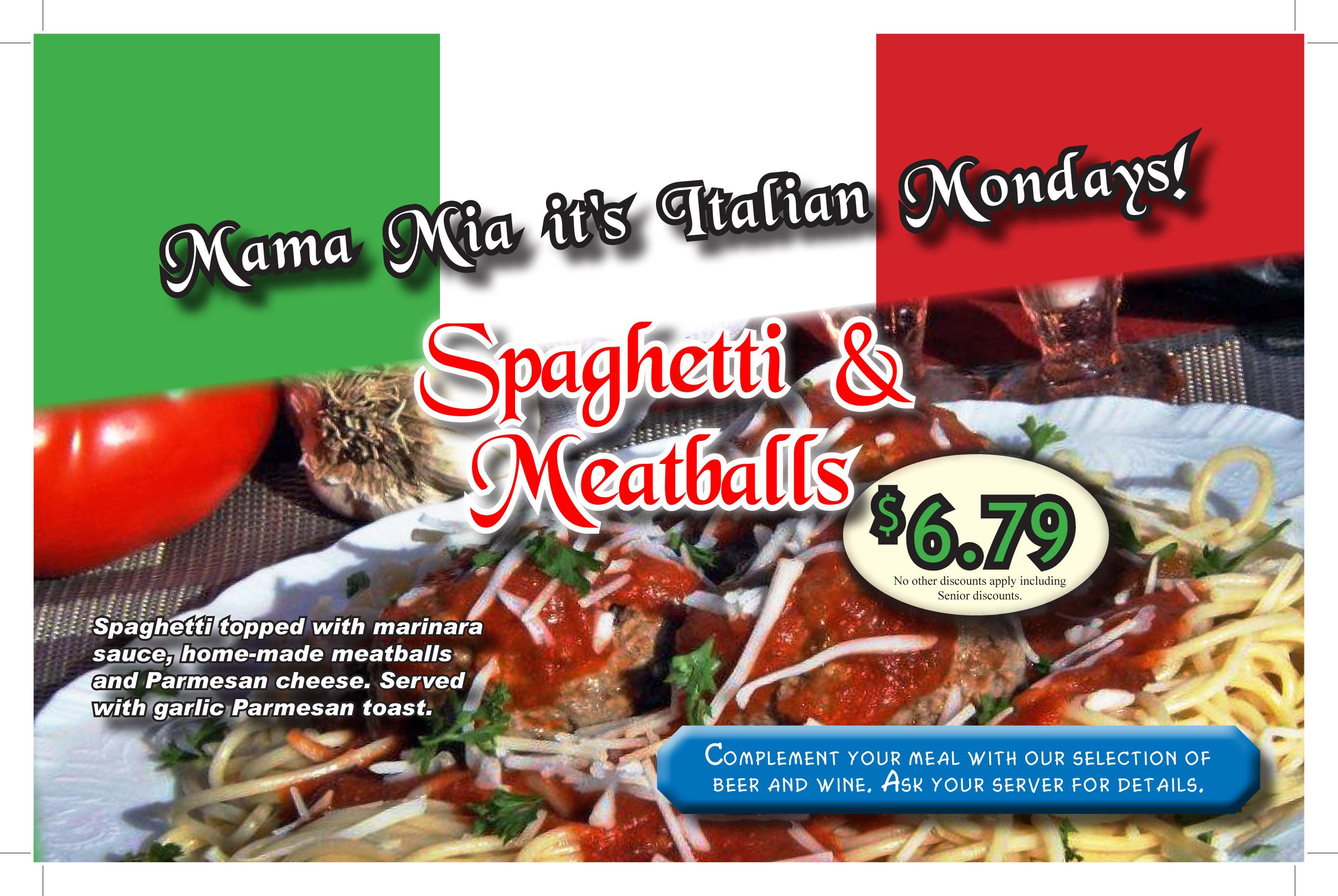 Prescott Junction Spaghetti & Meatballs